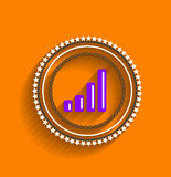 Vector chart icon stamp modern flat design Royalty Free Stock Photography