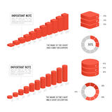 Vector chart template. Business data market elements dot bar pie charts diagrams and graphs flat icons set  vector illustration Stock Photo