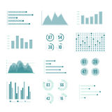Vector charts and graphs. Line illustration set isolate on white background. Business chart statistic report, diagram finance profit Royalty Free Stock Photo