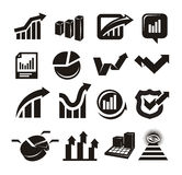 Vector charts icons set Stock Photos