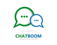 Vector chat icon or logo Royalty Free Stock Photos