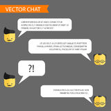 Vector chat template Royalty Free Stock Photography