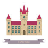 Vector chateau illustration. Stock Photography
