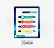 Vector check list infographic concept Royalty Free Stock Images