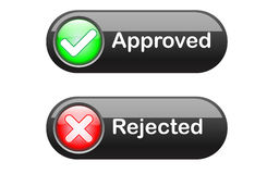 Vector check mark buttons Stock Image