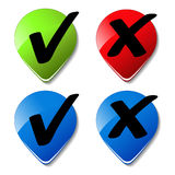 vector check mark buttons Stock Photo
