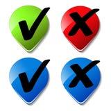 vector check mark buttons Stock Photo