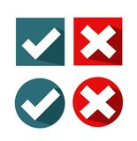 Vector check mark icons royalty free stock photo