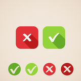 Vector check mark icons. flat icons for web and mobile applications Royalty Free Stock Image