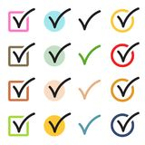 Check Mark Icons Set. Vector Check Mark Icons Set Isolated on White Background Stock Illustration
