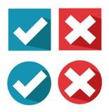 Vector check mark icons Royalty Free Stock Image