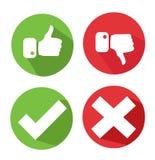 Vector check mark icons Stock Photography