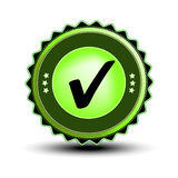 vector Check mark label Royalty Free Stock Photography
