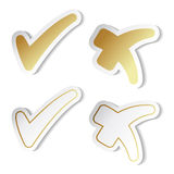 vector check mark stickers Stock Image
