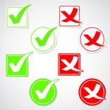 Vector check mark stickers Stock Photos