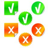 Vector check mark stickers. Eps 10 Royalty Free Stock Photo