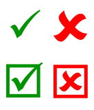 Vector check mark stickers Royalty Free Stock Photo