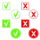 Vector check mark stickers Stock Photo