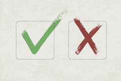 Vector check marks Stock Image