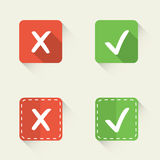 Vector check marks in flat style Stock Photo