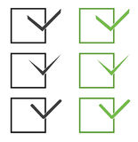Vector check marks. Set of green and gray vector check marks Royalty Free Stock Images