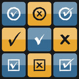 Vector checkbox Set of hand drawn Icons Royalty Free Stock Photo