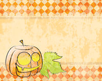 Vector checkered background pumpkin decorating for Royalty Free Stock Photos
