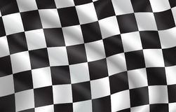 Vector checkered flag pattern background. Checkered flag for car racing or rally club. Vector 3D checkered pattern background of white and black squares on Stock Photos