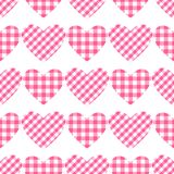 Vector Checkered hearts Seamless pattern. Cage vichy pattern. Checkered hearts Seamless pattern. Cage vichy pattern. Vector illustration isolated on white royalty free illustration