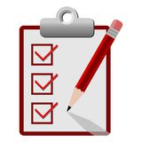 Vector checklist icon red Royalty Free Stock Images