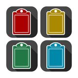 Vector checklist icons set with long shadow. Vector icon Royalty Free Stock Photo
