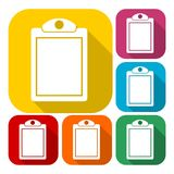 Vector checklist icons set with long shadow. Vector icon Stock Image