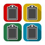 Vector checklist icons set with long shadow. Vector icon Stock Photo