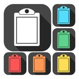Vector checklist icons set with long shadow. Vector icon Stock Photography