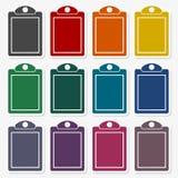 Vector checklist sticker set. Vector icon Stock Images