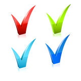 Vector checkmark set. Stock Image