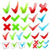 Vector checkmark set. Stock Photo