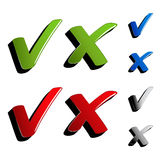 vector checkmark ticks Stock Photo