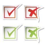 Vector Checkmarkierungsaufkleber stock abbildung