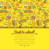Vector cheerful background with children Stock Photography