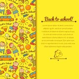 Vector cheerful background with children Royalty Free Stock Image