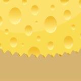Vector cheese background Stock Photos