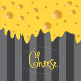 Vector Cheese brochure on background made of Royalty Free Stock Photo