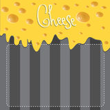 Vector Cheese brochure on background made of Stock Images