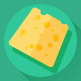 Vector cheese flat icon Stock Images