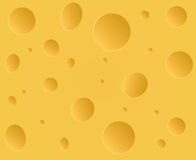 Vector Cheese with holes Stock Photography