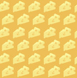 Vector cheese pattern Royalty Free Stock Image