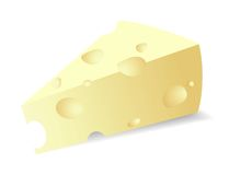Vector cheese titbit Royalty Free Stock Photo