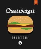 Vector cheeseburger poster Royalty Free Stock Photo