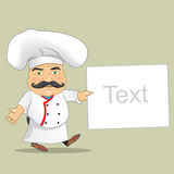 Vector Chef Cook Serving Food Realistic Cartoon Character Design Isolated Vector Illustrator Stock Images